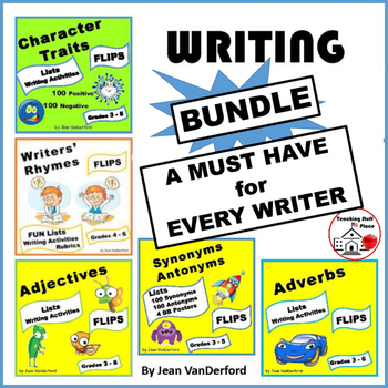 BUNDLE for WRITERS | LISTS | Interactive VOCABULARY REFERE
