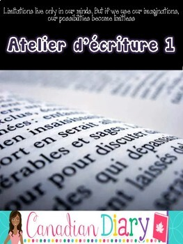 Writing Prompts (No Prep) Package 1 En Francais - Atelier