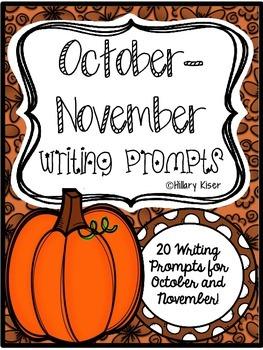 Writing Prompts (October-November)