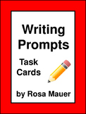 Writing Prompts Task Cards Response Page Record Sheet