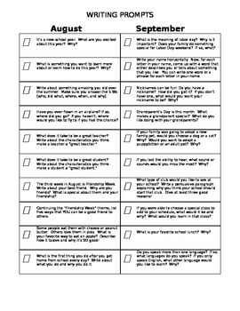 Writing Prompts for 3rd and 4th Grade