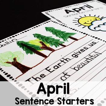 April Writing Prompts for Beginning Writers