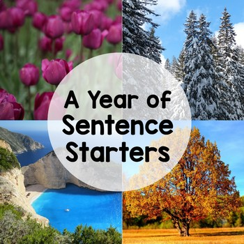 Sentence Stem Writing Prompts (Entire Year Bundle) by Teaching in the Primary Grades