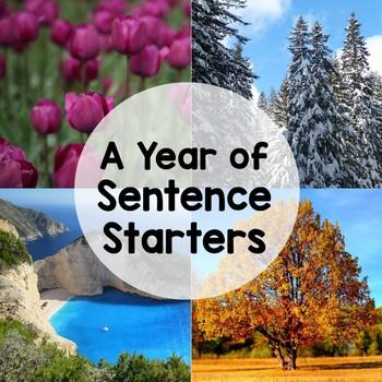 Sentence Stem Writing Prompts (Entire Year Bundle)