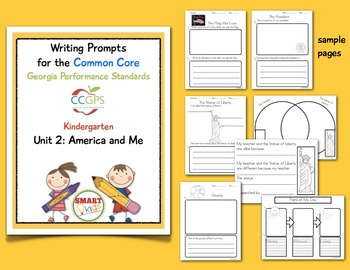 Writing Prompts for CCGPS Kindergarten Unit 2: America and Me