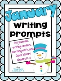 Writing Prompts for January {For journals and writing centers}