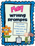 Writing Prompts for May {For journals and writing centers}