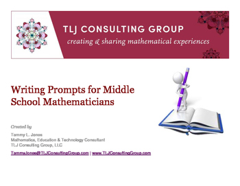 Writing Prompts for Middle School Mathematicians