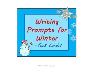Writing Prompts or Conversation Starters Task Cards f/ CCS