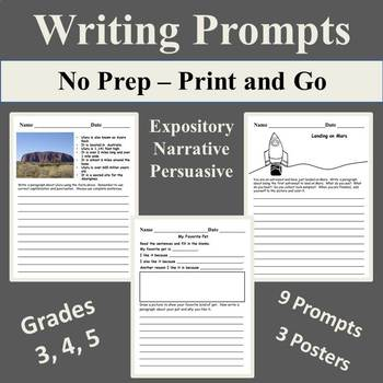 Writing Prompts with Mini Posters