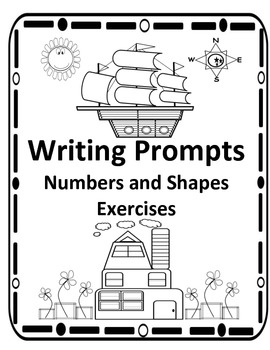 Kindergarten Writing Prompts,Numbers, and Shapes Activties