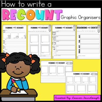 Writing Recounts - for Kindergarten, First, Second and Thi