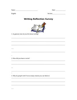 Writing Reflection Survey / Student Writing Inventory