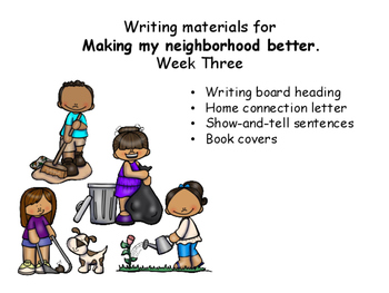 Writing Response Sheets for bettering my Neighborhood, Uni