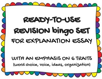 Writing Revisions with BINGO