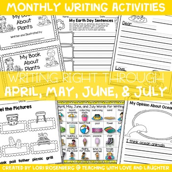 Writing Right Through...April, May, June, and July