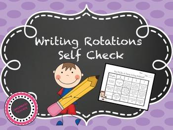 Writing Rotations Self Check Rubric