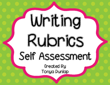 Writing Rubric, 6 Sentences, Self-Assessment