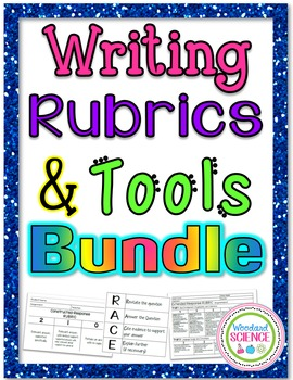Writing Rubrics and Tools Bundle - Great for Milestones!