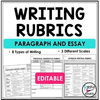 Writing Rubrics for Narrative, Opinion, and Informative Writing
