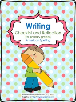 Writing Self-Assessment Checklist for Primary Grades {Amer