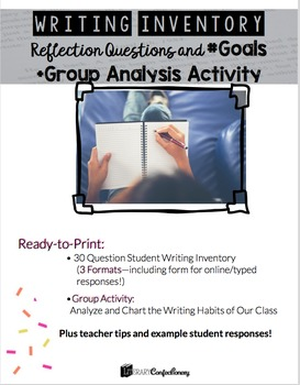 Writing Self Assessment Reflection Questions and Goals Plu