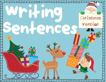 Writing Sentences for Beginners~ Christmas Version