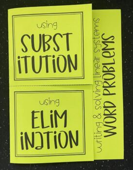 Writing & Solving Linear Systems (Foldable)