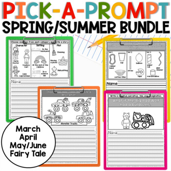 Spring/Summer Pick a Prompt BUNDLE!  Writing Prompts with Choice!
