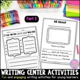 Writing Center Activities for Young Learners {Part 2}