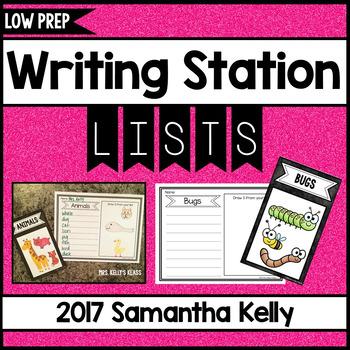 Writing Station - List Writing