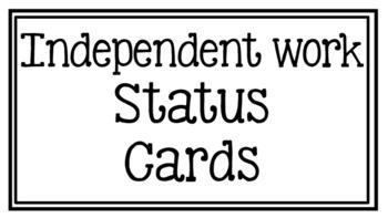 Writing Status Cards