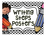 Writing Steps Posters {Black and White Backgrounds}