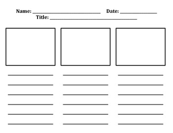 Writing Story Organizer- Beginning, Middle and End