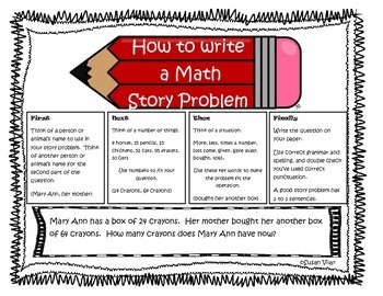 How To Write Story Problems with Kids