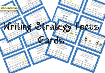 Writing Strategy Focus Cards