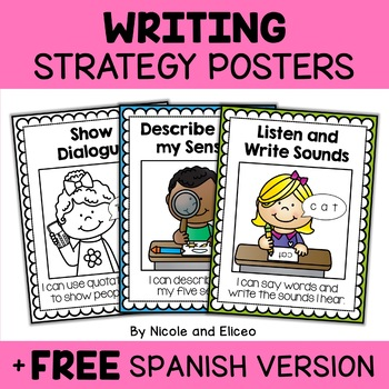 Beginner Writer Writing Strategy Posters