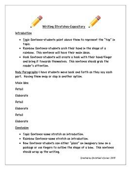 FREEBIE Writing Stretches
