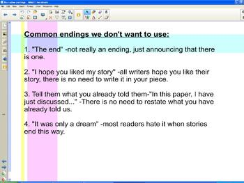 Writing Strong Endings for Narratives using Mentor Texts