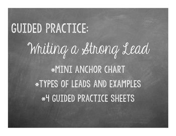Writing Strong Leads Guided Practice
