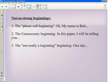 Writing Strong Narrative Beginnings using Mentor Texts