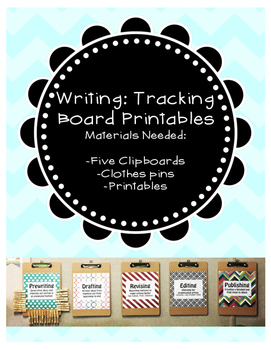 Writing Process: Student Tracking Boards