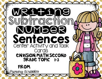 Writing Subtraction Number Sentences Center Activities and