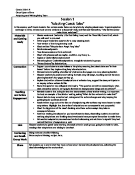 Lucy Calkins Writing Summary Grade 3 Unit 4 Adapting and W