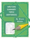 Writing Summary Topic Sentences