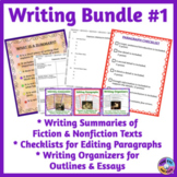 Writing Paragraphs, Summaries, Organizing Writing Into Out