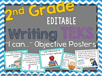 Writing TEKS Posters for Second Grade