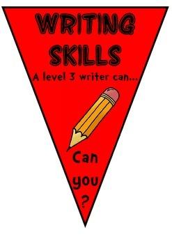 Writing Target Bunting - Level 3 APP