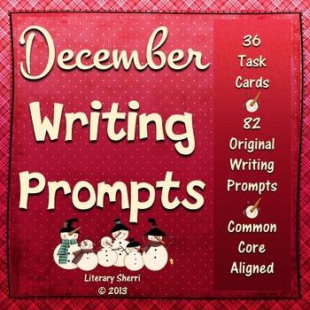 DECEMBER WRITING PROMPTS | December Task Cards | December