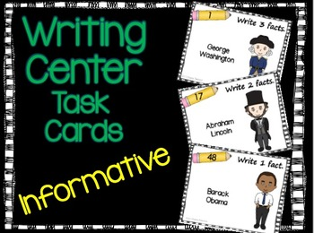 Informative Writing Task Cards-Presidents